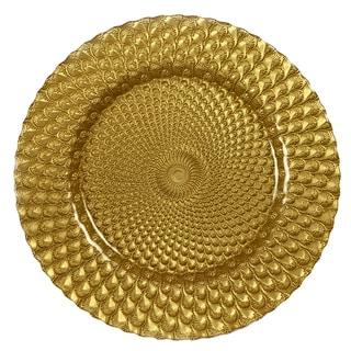 IMPULSE! 'Sorrento' Gold Charger 4-piece Plate Set