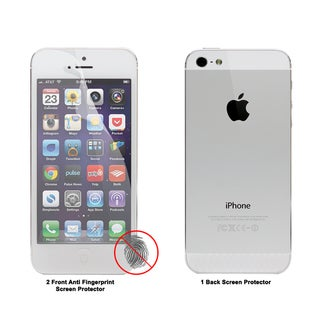 Apple iPhone 5 Anti-fingerprint Screen Protector (Set of 3)