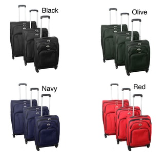 Travel Grand 3-Piece Expandable Spinner Wheels Upright Luggage Set