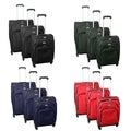 Century Grand 3-piece Expandable 360-degree Spinner Upright Luggage Set