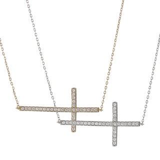 Tressa Sterling Silver Cubic Zirconia Holy Cross Necklace