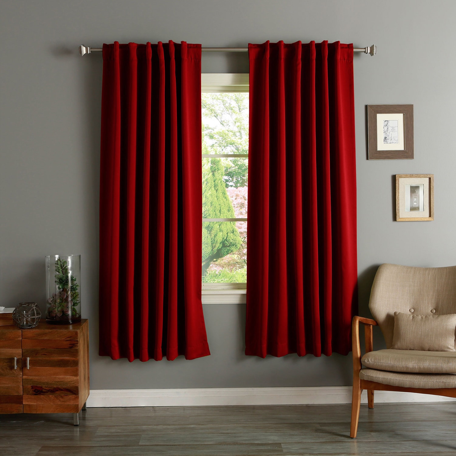 Cheap Black Curtains 90X90 Natural Blackout Curtains