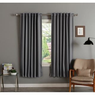 Best Home Fashion 72-inch Insulated Thermal Blackout Curtain Panel Pair