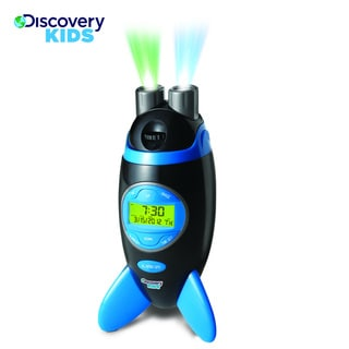 Discovery Kids Rocketship Projection Alarm Clock