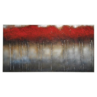 Patrick St. Germain 'Crimson Forest' Hand Painted Canvas