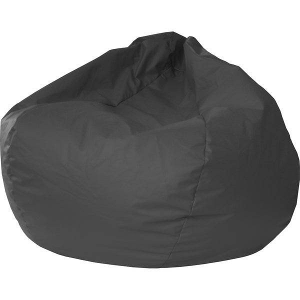 Gold Medal Black Small/ Toddler Leather Look Vinyl Bean Bag