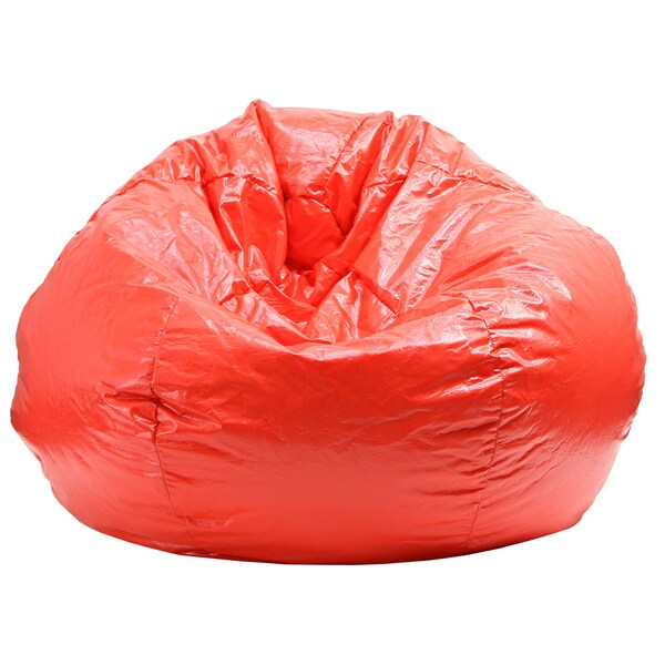 Gold Medal Red Extra Large Wet Look Vinyl Bean Bag