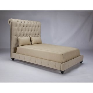 JAR Design 'Alphonse Tufted' Barley Queen-size Bed