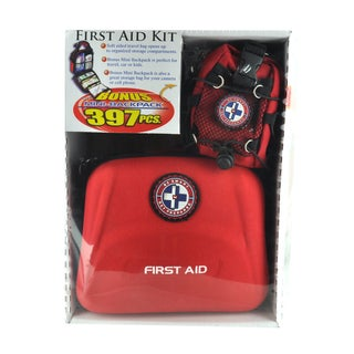 First Aid Travel Kit with Mini Backpack (397-pieces)