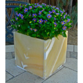 Alabaster Cube Planter Box (Egypt)