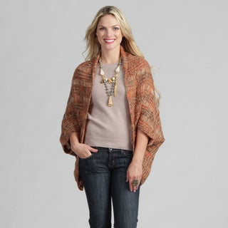 Tabeez Women's Taupe Marble Cocoon Cardigan