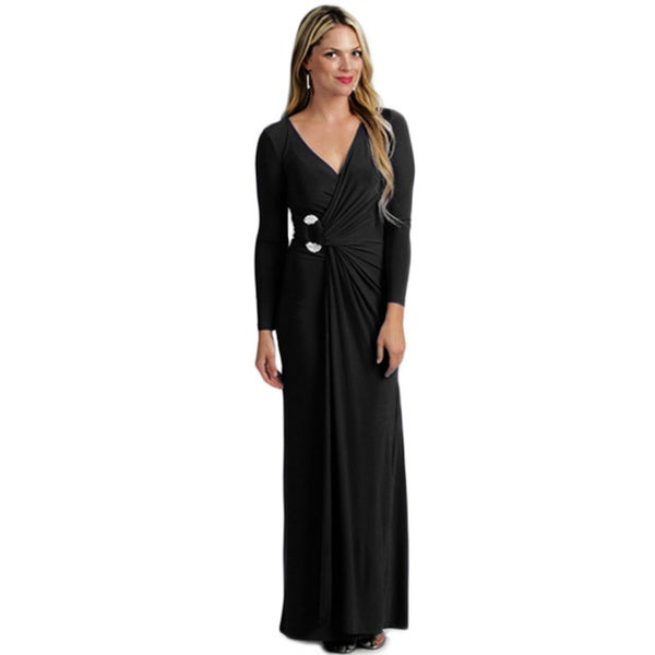 Tabeez Women's Jersey Diamond Wrap Dress