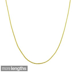 Fremada 10k Yellow Gold Round Wheat Chain (16-24 inch)