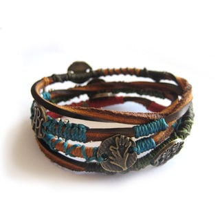Wakami Leather Dream Wrap Bracelet (Guatemala)