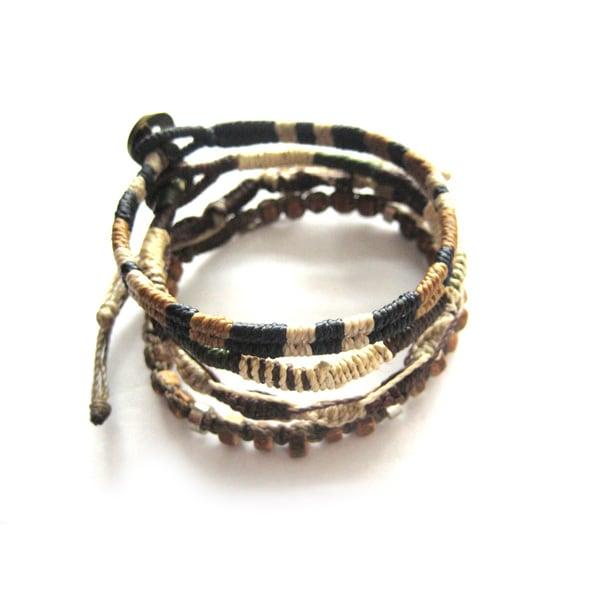 Wakami 4-Strand Unisex Earth Bracelet (Guatemala)