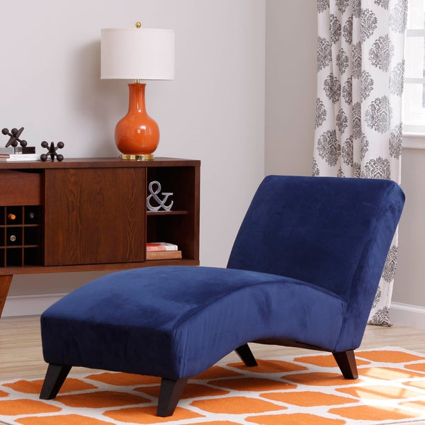 Bella navy chaise 14906246 shopping for Bella chaise dark brown