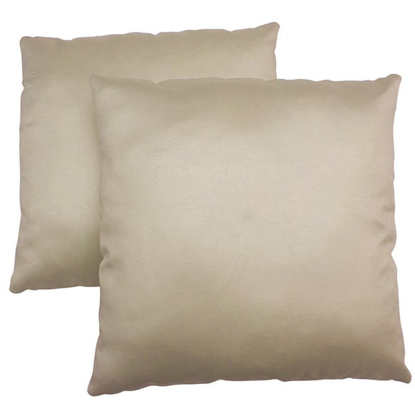 ABBYSON LIVING Charmant 18-inch Cream Decorative Pillows (Set of 2)