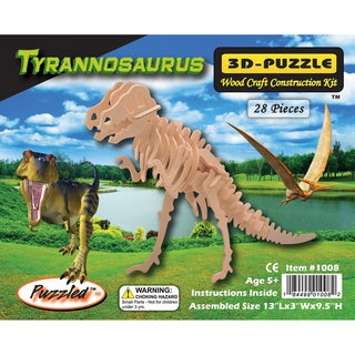 Puzzled T-rex 3D Puzzle Wood Craft Construction Kit