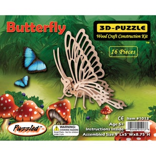 Puzzled 3D Butterfly Puzzle Wood Craft Construction Kit