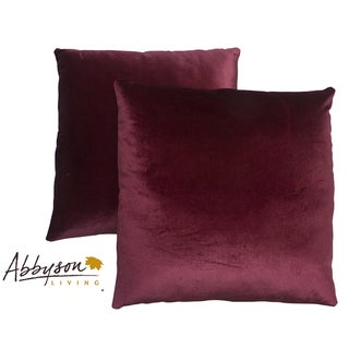 Abbyson Living Charisma 18-inch Burgundy Decorative Pillows (Set of 2)