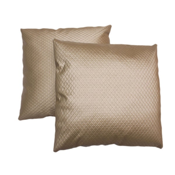 ABBYSON LIVING Isabella 18-inch Gold Patterned Decorative Pillows (Set of 2)
