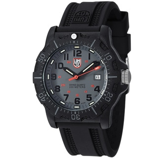 Luminox Men's 'OPS' Grey Dial Black Rubber Strap Quartz Watch