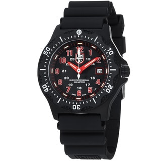 Luminox Men's 'OPS' Black Dial Black Rubber Strap Quartz Watch