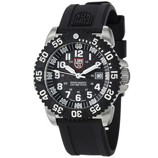 Luminox Men's 'Colormark' Black Dial Black Rubber Strap Watch