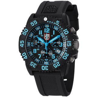 Luminox Men's A.3083 'Colormark' Black Dial Chronograph Quartz Watch