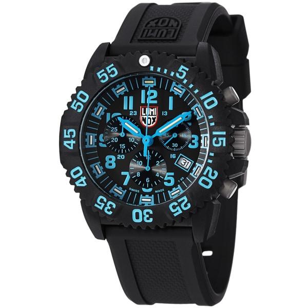 Luminox Men's A.3083 'Colormark' Black Dial Chronograph Quartz Watch