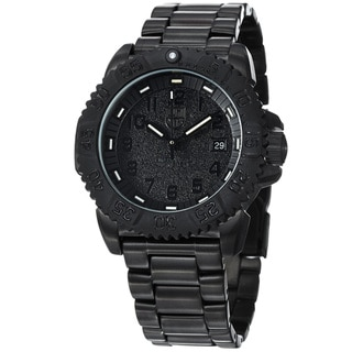 Luminox Men's 'Colormark' Black Dial Black Stainless Steel Watch