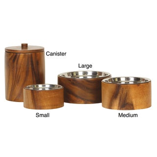 Unleashed Life Anderson Wood Pet bowl and Canister Collection