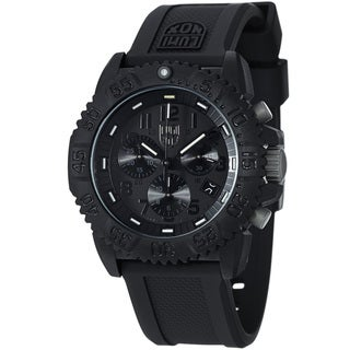 Luminox Men's 'Colormark' Black Dial Rubber Strap Chronograph Watch