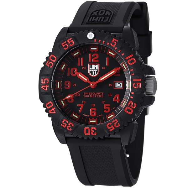 Luminox Men's 'Colormark' Black Dial Black Strap Quartz Watch