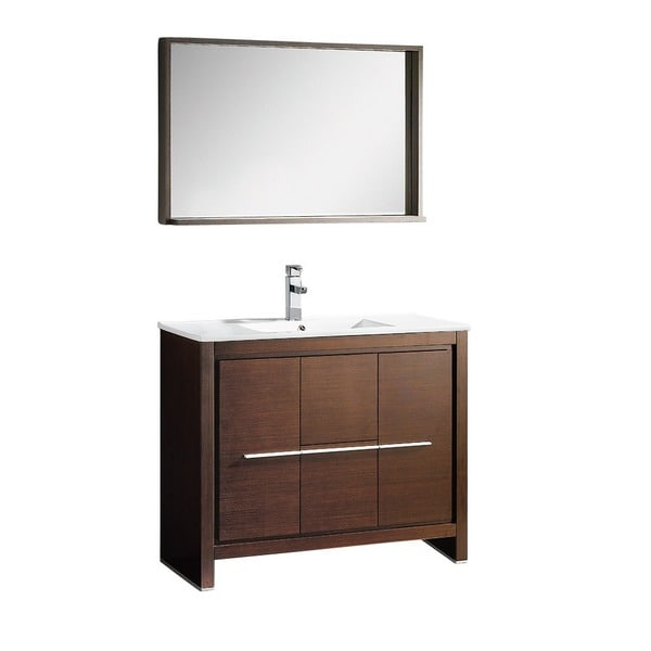 Fresca Allier 40 Inch Wenge Brown Modern Bathroom Vanity