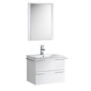 Fresca Cielo Four Inch White Modern Bathroom Vanity With