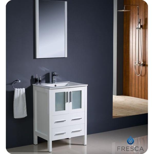 Beautiful Avanity Windsor 24 Inch White Traditional Single Sink Bathroom Vanity