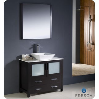 Fresca Torino 36-inch Espresso Modern Bathroom Vanity with Vessel Sink