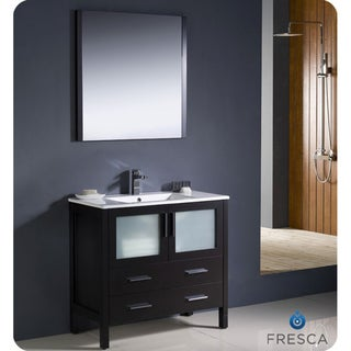 Fresca Torino 36-inch Espresso Modern Bathroom Vanity with Undermount Sink