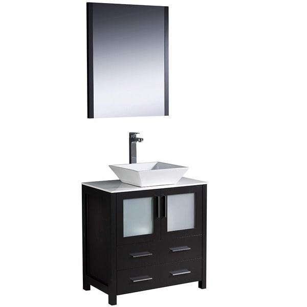 Fresca Torino 30 Inch Espresso Modern Bathroom Vanity With Vessel Sink 1490