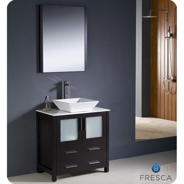 Fresca Torino 30-inch Espresso Modern Bathroom Vanity with Vessel Sink
