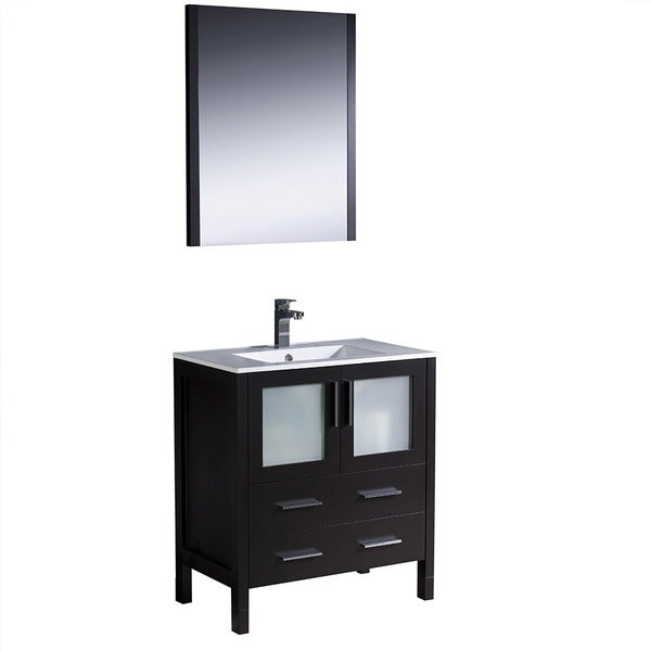 Fresca Torino 30-inch Espresso Modern Bathroom Vanity with Undermount Sink