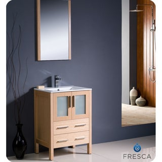 Fresca Torino 24-inch Light Oak Modern Bathroom Vanity with Undermount Sink