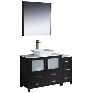 Fresca Torino 48-inch Espresso Modern Bathroom Vanity with Side Cabinet and Vessel Sink