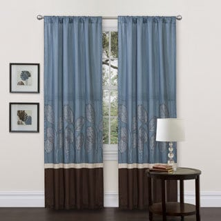 Lush Decor Lydia Blue 84-inch Curtain Panel