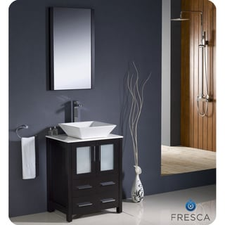 Fresca Torino 24-inch Espresso Modern Bathroom Vanity with Vessel Sink