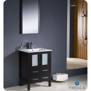 Fresca Torino 24-inch Espresso Modern Bathroom Vanity with Undermount Sink