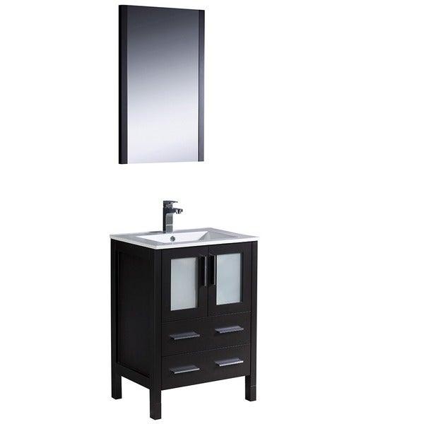 torino 24 inch espresso modern bathroom vanity with undermount sink