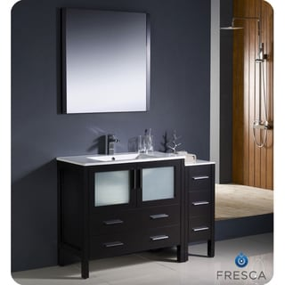 Fresca Torino 48-inch Espresso Modern Bathroom Vanity with Side Cabinet and Undermount Sink