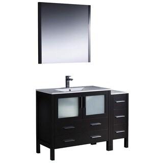 Fresca Torino 48-inch Espresso Modern Bathroom Vanity with Side Cabinet and Undermount Sink